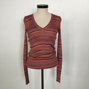 Dolce & Gabbana Long Sleeve Knit V-neck Top